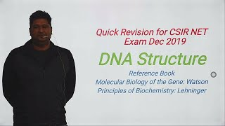 DNA structure: CSIR NET Life Science Dec 2019 Exam Quick revision
