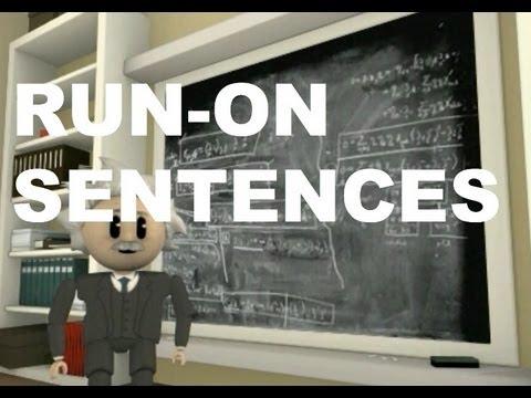 Grammar Vids for Kids: Run-On Sentences - YouTube
