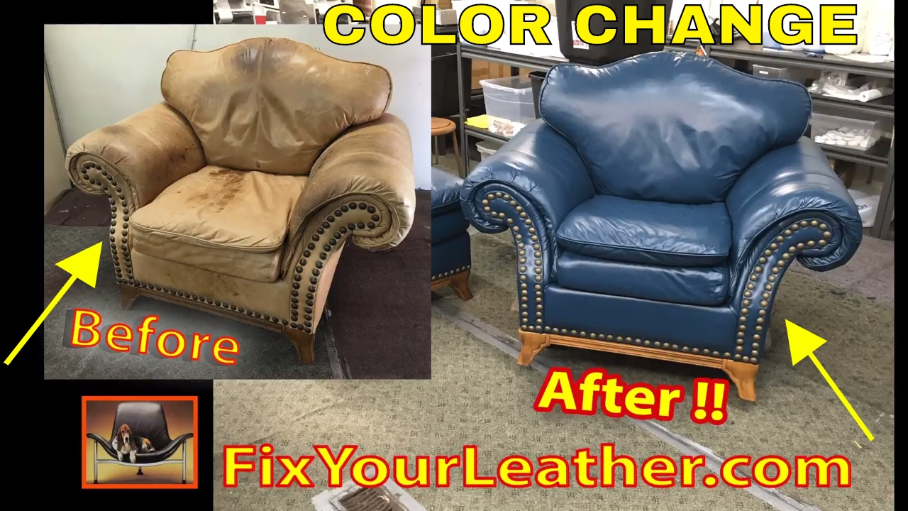 Changing leather color