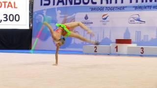 Художественная гимнастика. Агаркова Яна, обруч. Бишкек.