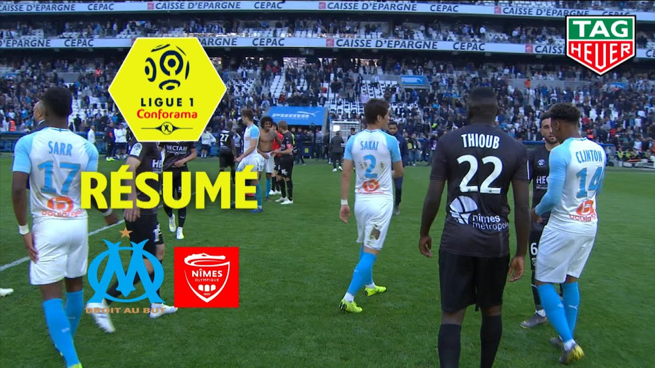 Olympique De Marseille Nimes Olympique 2 1 Resume Om Nimes 2018 19 Youtube
