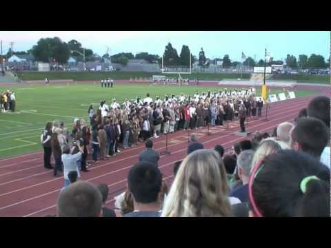 West High School Choir at Fridays Football Game 9-21-12 - 50th Anniversary