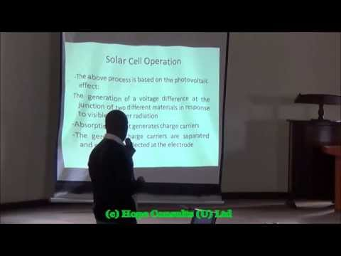 PV Workshop 2014 Solar Cells and Solar Modules
