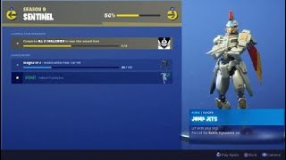 Fortnite Season 9 Unlocked New Sentinel Emote Jump Jets Iron Man Looking Emote