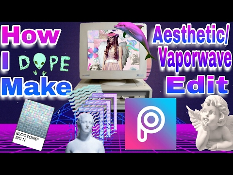 This is how I make aesthetic/vaporwave edit on my android device *picture*