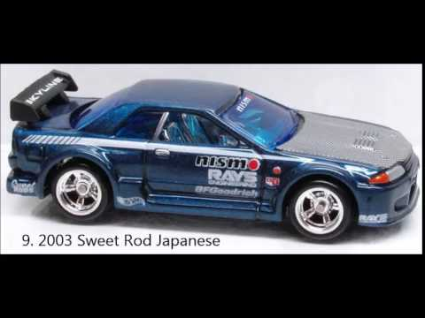 Hot Wheels Nissan Skyline R32 List And Variations Full 2002 2011