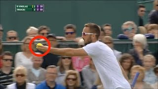 이 선수가 테니스 공을 보고 눈이 뒤집힌 이유