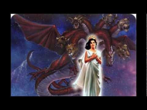 Dragon rojo y la mujer vestida de sol