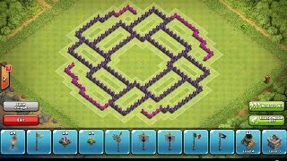 Clash of Clans - Town Hall 8 Trophy/Clan War Base + Speed Build 2014 w/ 4th Mortar (Hurricane)