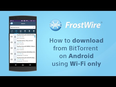 How to download torrents with FrostWire for Android on Wi-Fi only