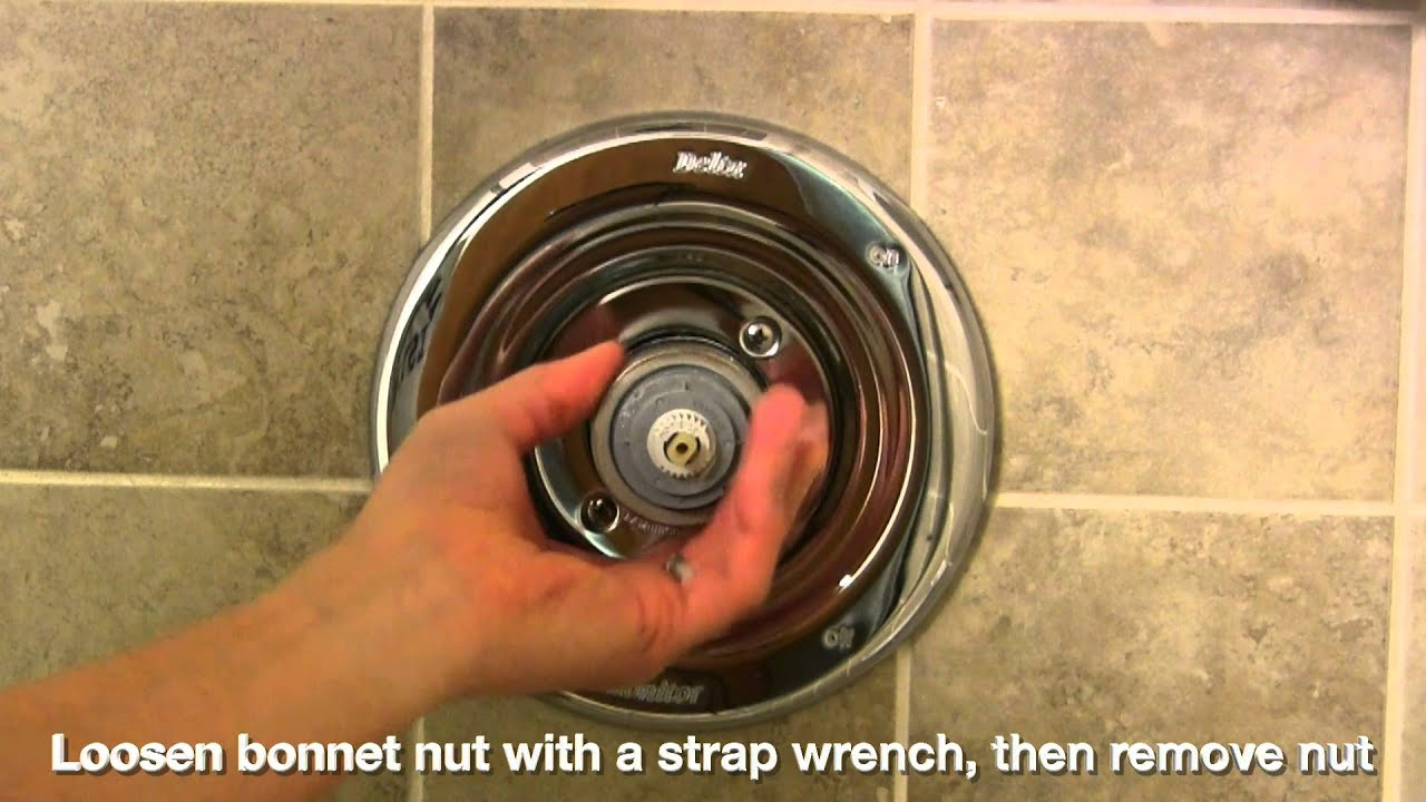 handle faucet repair shower single watch youtube a on delta replace the control valve