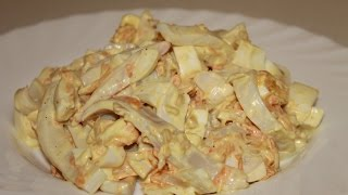 видео салат с кальмарами