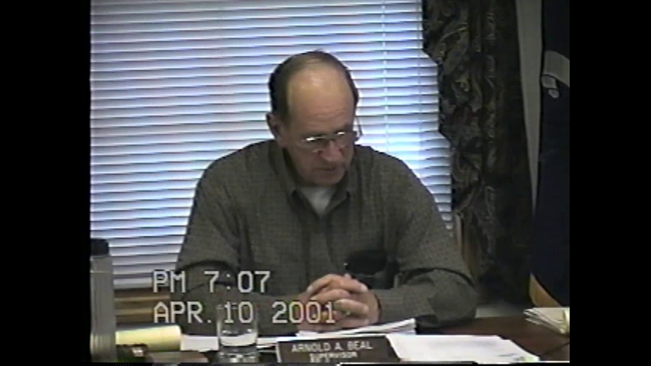 Champlain Town Board Meeting  4-10-01