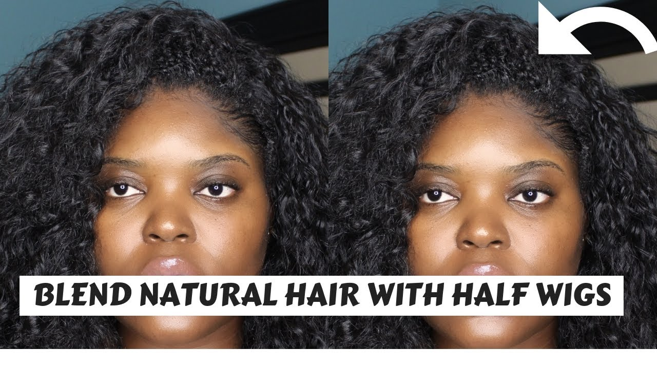 How To Blend Short Type 4 Hair With Half Wigs Lola Williams Youtube