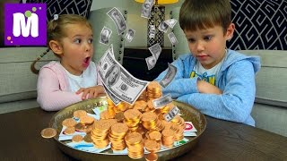 Челлендж ЛОТЕРЕЯ Шопинг на все деньги Зачем Максу микрофон Lottery Kid's CHALLENGE Видео для детей