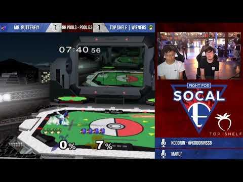 Fight For SoCal 8 - Mr. Butterfly (Falco) VS Top Shelf | Wieners (Marth) - SSBM - RR Pools (B3)