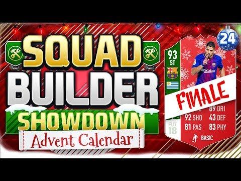 FIFA 18 SQUAD BUILDER SHOWDOWN!! 🎉 ADVENT CALENDAR FINALE!! INFORM SUAREZ!!