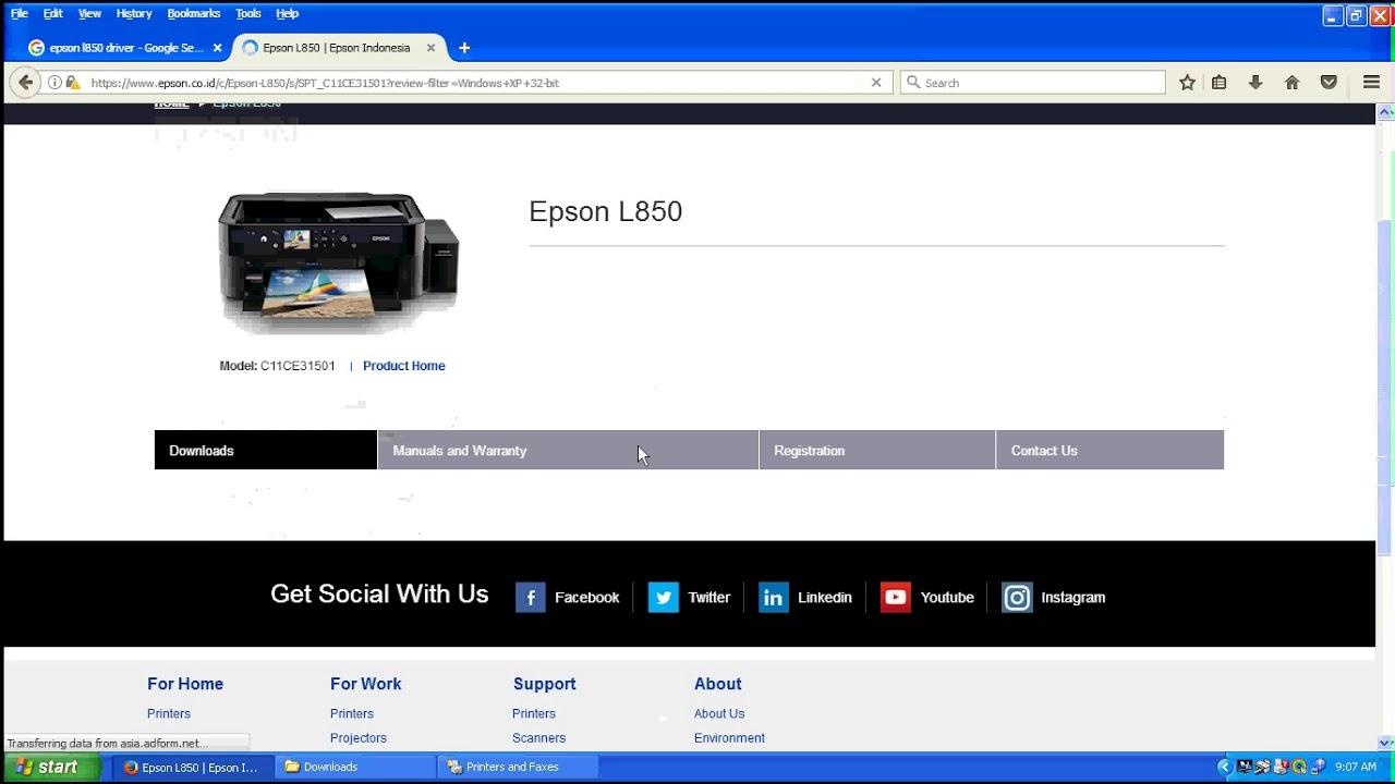 Epson L850 Printer, Driver Download