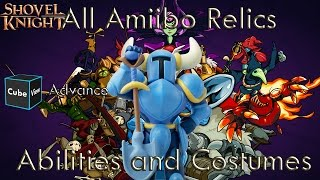Shovel knight All Amiibo Relics, Abilities and Costumes