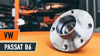 How to replace a Rear wheel bearing on VW PASSAT B6 TUTORIAL | AUTODOC