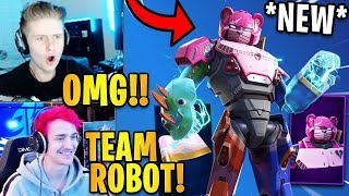 Streamers React to the *NEW* MECHA TEAM LEADER Skin & Wrap! | Fortnite Highlights & Funny Moments