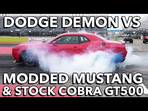 Dodge Demon vs Cobra GT500 (Stock vs Stock) & Modded ...