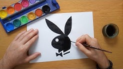 How to draw the Playboy logo