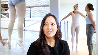 pointe shoe fitter reacts to MICHELLE KHARE BALLET