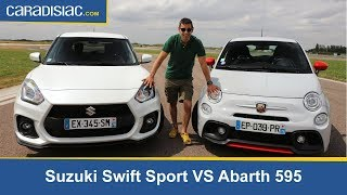 Comparatif Abarth 595 vs Suzuki Swift par Soheil Ayari Video