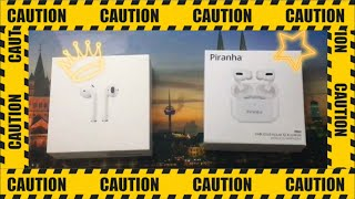 Apple AirPods 2. Nesil & Piranha 9960 Kablosuz Kulaklık ( AirPods Pro ) Karşılaştırması