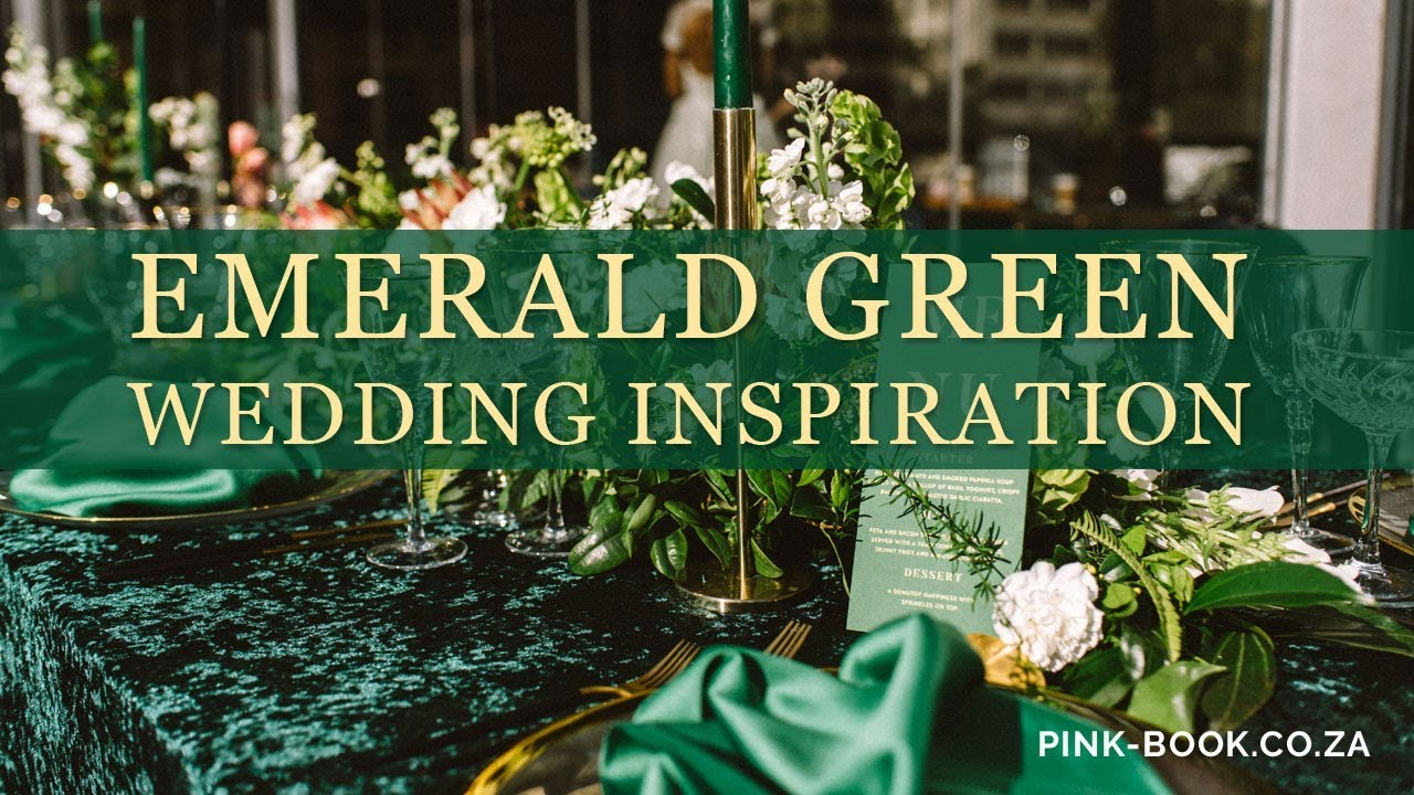 Emerald Green Wedding Inspiration Pink Book Weddings Youtube