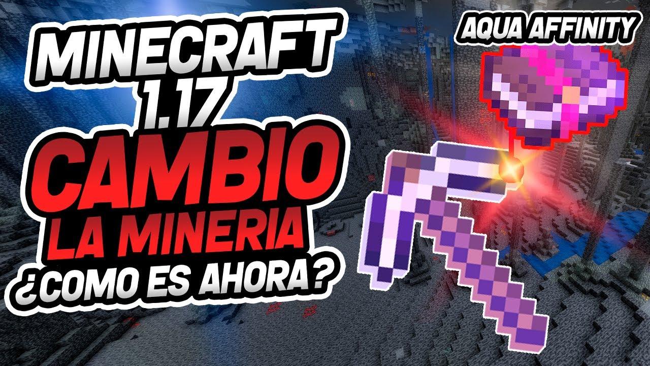 Minecraft 1.17 CAMBIO LA MINERIA ¿Como es ahora?