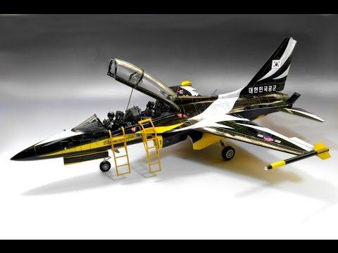 Rokaf-50B  Academy 1:48 Black Eagles - Acrobatic Jet Fighter Model