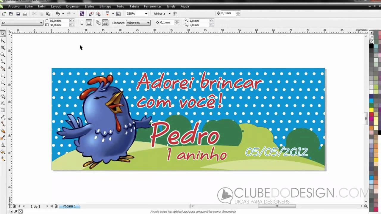 Criando E Imprimindo Lembrancinhas De Festa Galinha Pintadinha