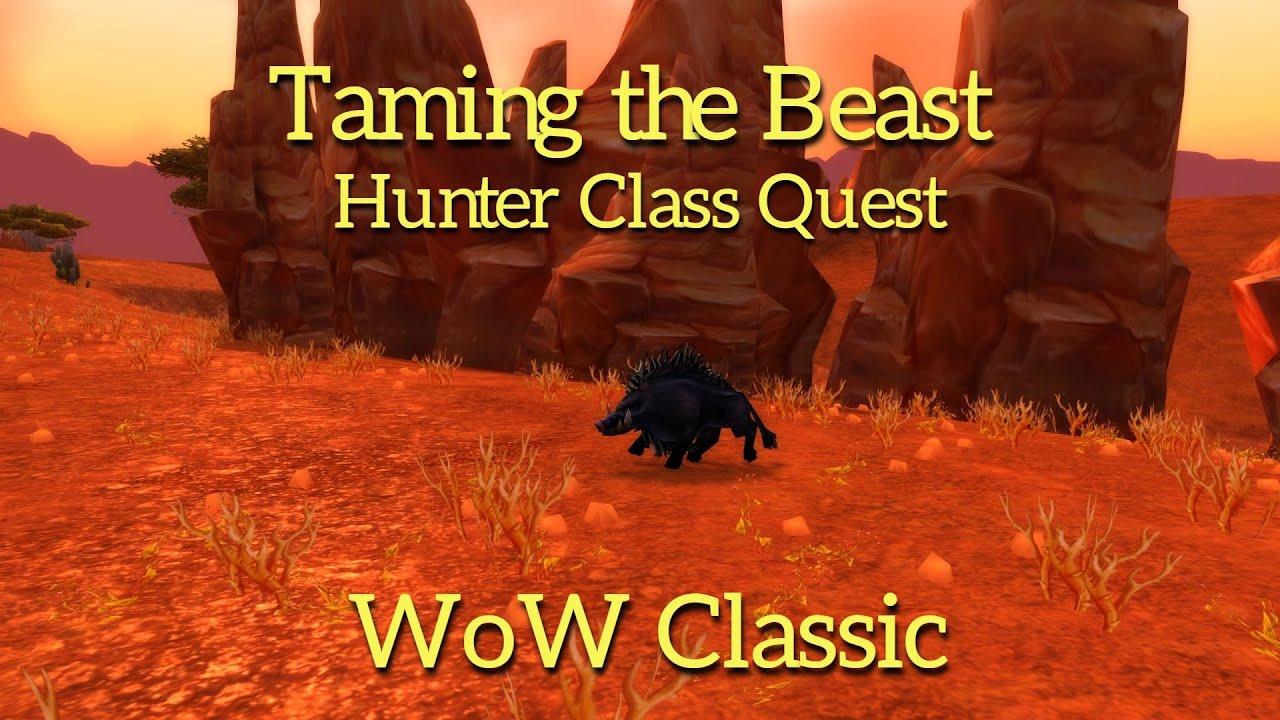 wow classictaming the beast in durotarhunter class