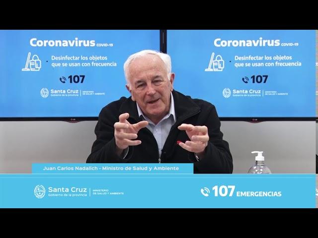 """Nadalich: """"La cuarentena es la herramienta que tenemos frente al virus"""""""