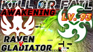 Dragon Nest PvP : Raven v Gladiator (Lollipop) Awakening KOF Lv. 93 KDN Spec Mode.