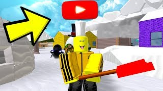 ROBLOX SNOW SHOVELING SIMULATOR *EXCLUSIVE YOUTUBER RANK*