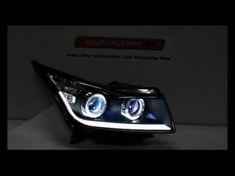 AGCCV4W55K43,Chevrolet Cruze(2009-2016 Model) BMW Style DRL Double Projector Headlights