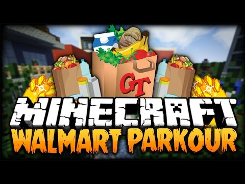 Minecraft: PARKOURING IN WAL-MART?! (Awesome Fun Parkour Map)