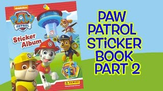 Paw Patrol Sticker Book Part 2