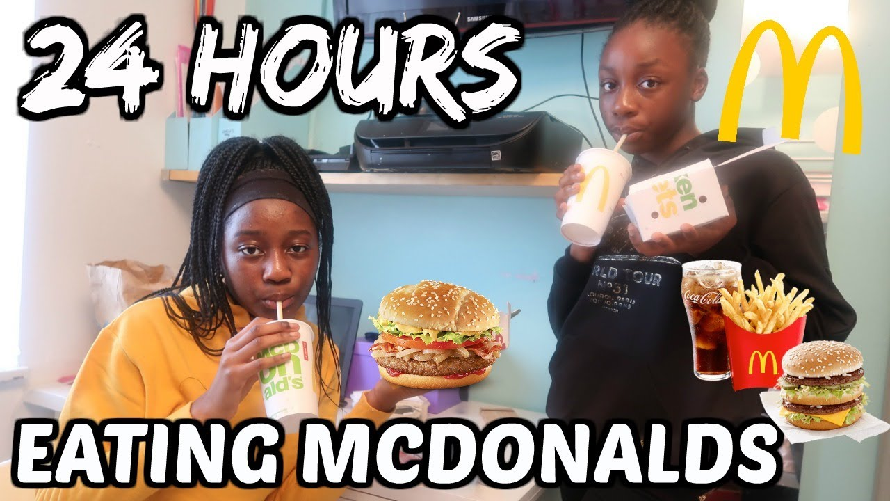 24 Hours eating only Mcdonalds challenge/fast food