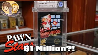 Super Mario Bros. Sealed and Graded on Pawn Stars for $1 Million