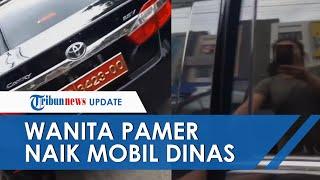 Viral Video Wanita Pamer Naik Mobil Camry Berpelat Merah TNI yang Mirip Kendaraan Dinas Jenderal