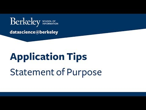 Application Tips –Statement of Purpose