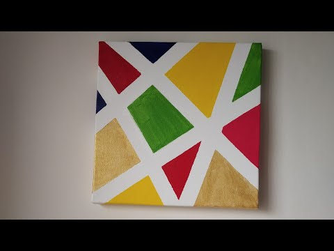 DIY Simple Canvas Painting (Chandani's Style)