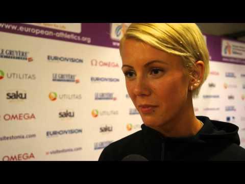 Grete Šadeiko (EST) at the pre competition press conference