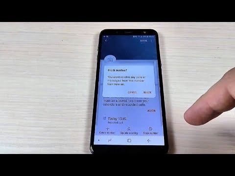 How to block a number in samsung mobile