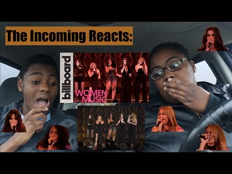 Fifth Harmony ~ Like I'm Gonna Lose You Live @ Billboard Women in Music REACTION