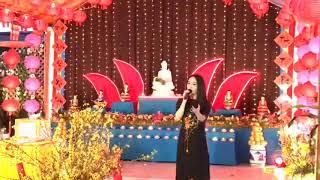 Ca sỹ Trung Hậu diễn tại Chùa Linh Quang Hawthorne CA (Mùng 2 Tết 2020)